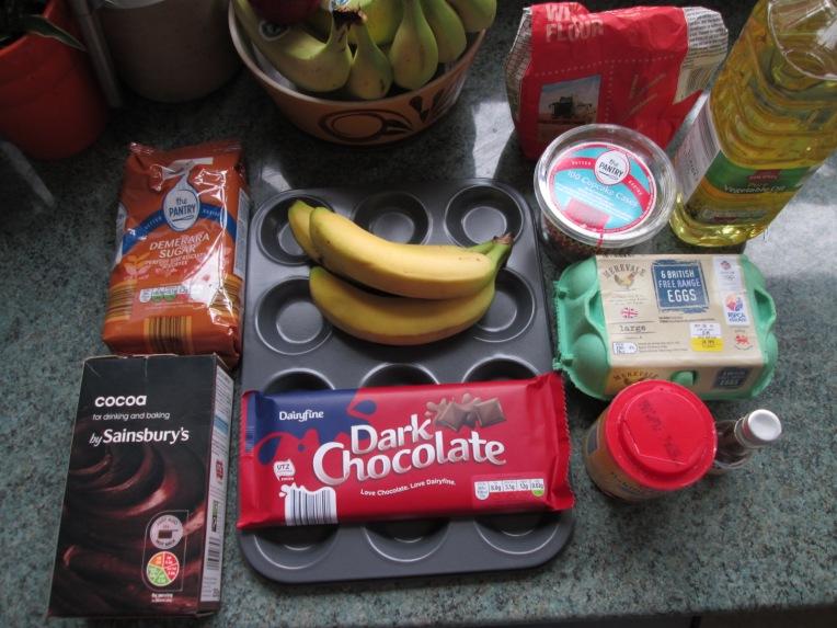 recipe banana and chocolate muffin