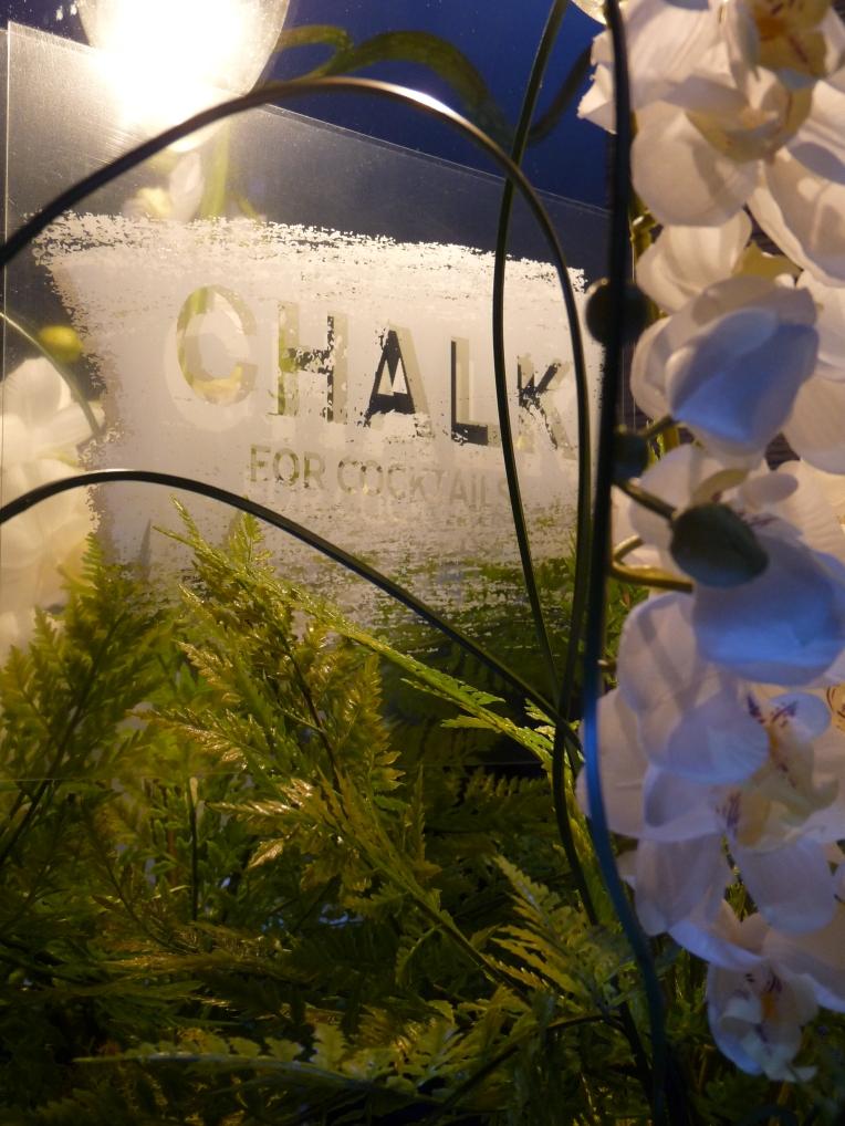 chalk cocktail bar