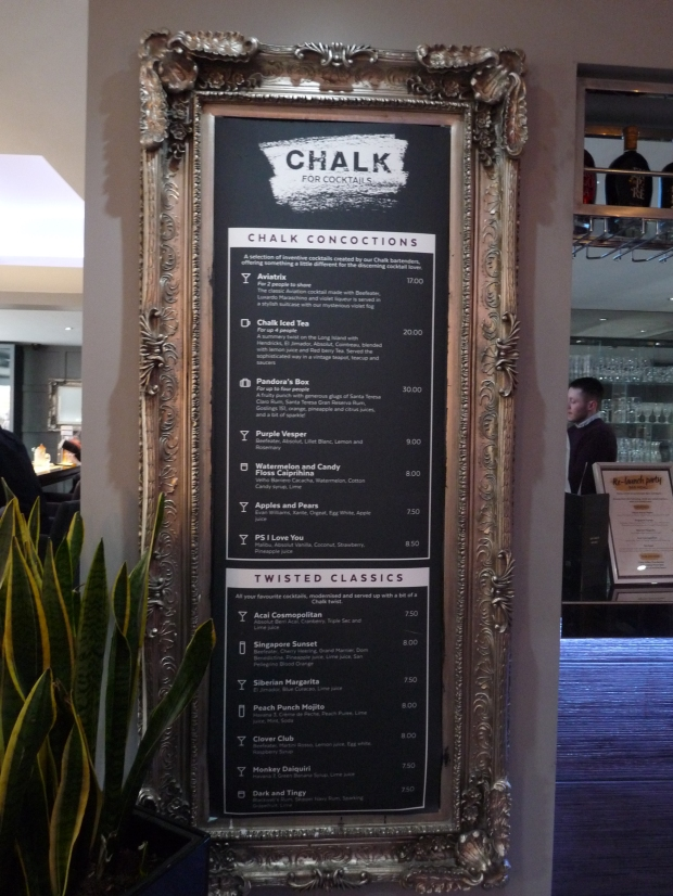 chalk didsbury menu