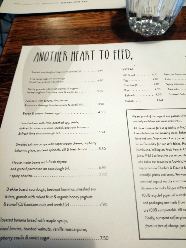 menu - another heart to feed